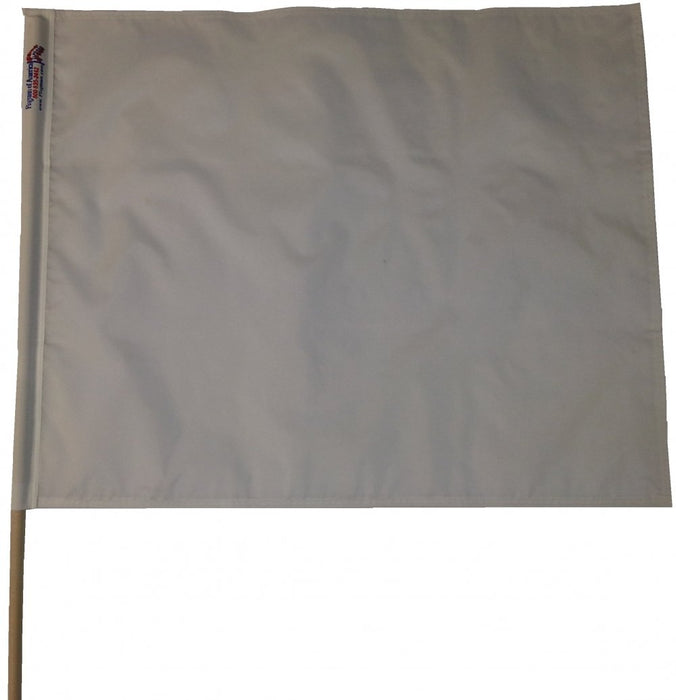 Solid White Racing Flag