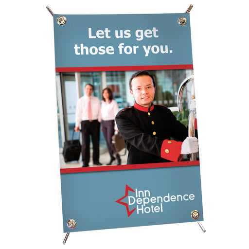 "12""x18"" Table Top X Banner Display Kit"