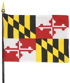 Miniature Maryland Flag