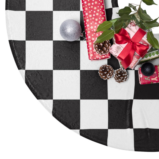 Checkered Christmas Tree Skirt