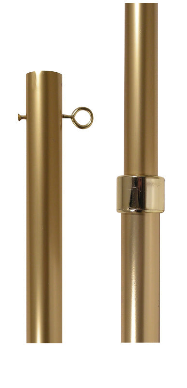 Gold Adjustable Indoor Presentation Flagpole Aluminum Flagpole