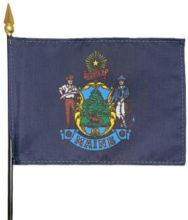 Miniature Maine Flag