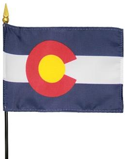 Miniature Colorado Flag