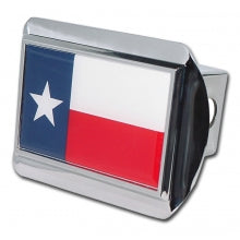 Texas Flag Brushed Chrome Hitch Cover
