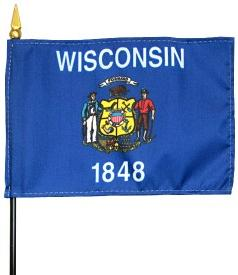Miniature Wisconsin Flag