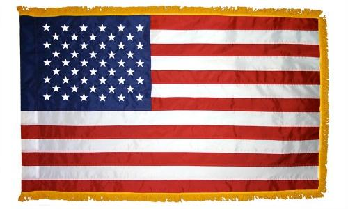 Signature American Flag with Gold Fringe