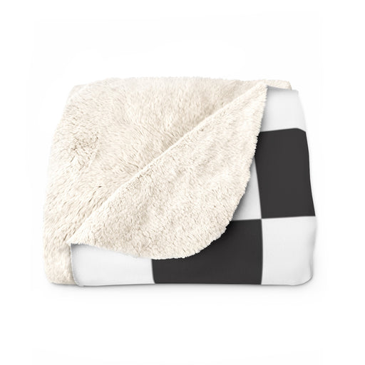 Checkered Sherpa Fleece Blanket