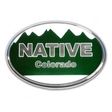 Colorado Native Oval Auto Emblem