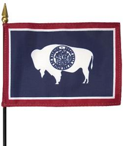 Miniature Wyoming Flag