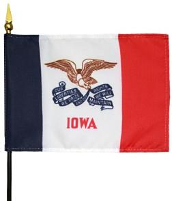 Miniature Iowa Flag