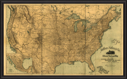 United States Official Railroad Map 1890