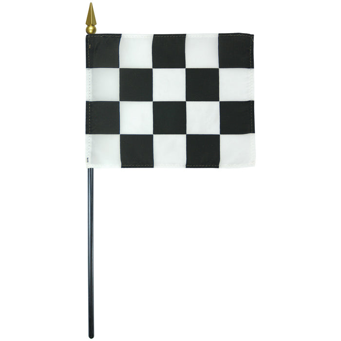 "4""x5"" Premium Mini Checkered Flag"