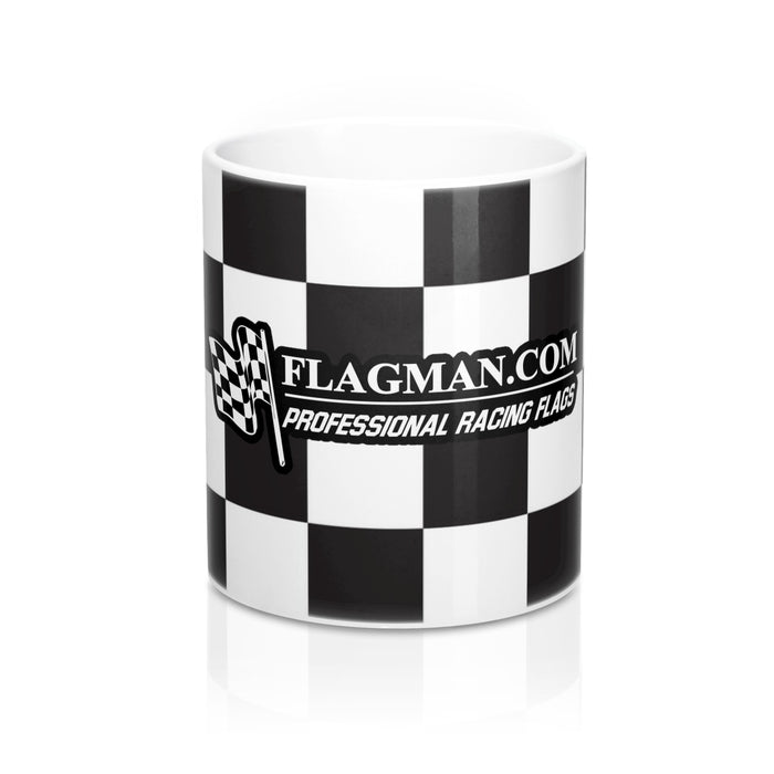Checkered White Standard Mug 11oz