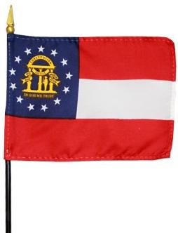 Miniature Georgia Flag