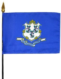 Miniature Connecticut Flag