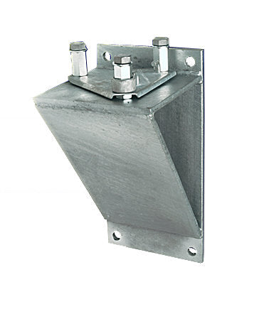 Fiberglass Flagpole Hinge Base Vertical Wall Mount Bracket