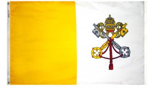 Outdoor Papal Flags