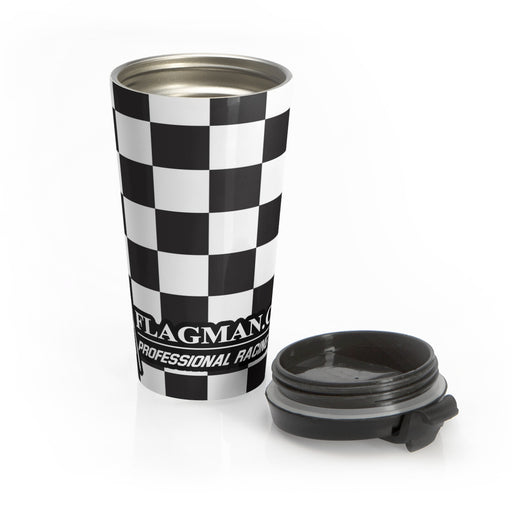 Checkered Stainless Steel Travel Mug