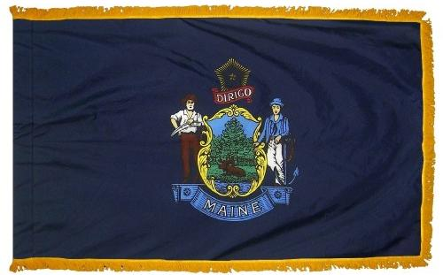Maine Indoor Flag
