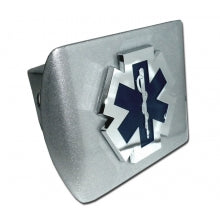 EMS Brushed Chrome Hitch Cover