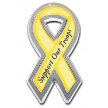 Support Our Troops Chrome Ribbon