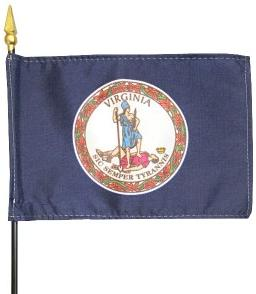 Miniature Virginia Flag