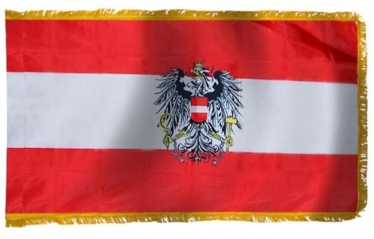 Austria Indoor Flag with Eagle for sale