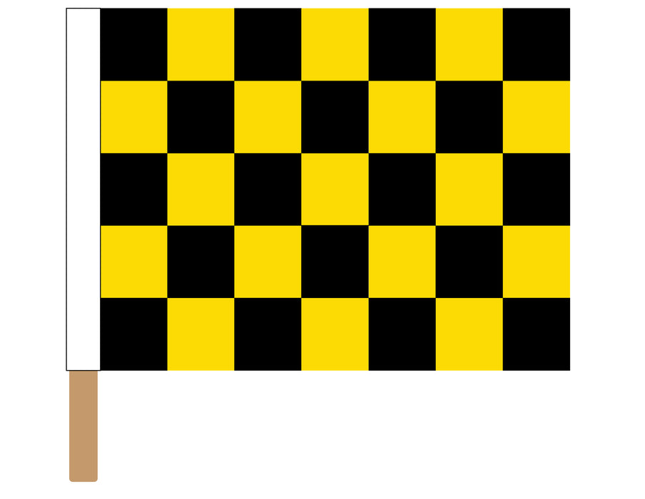 Black & Yellow Sewn Checkered Racing Flag