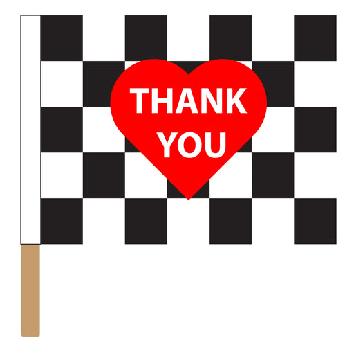 Printed Healthcare Heroes Checkered Racing Flag