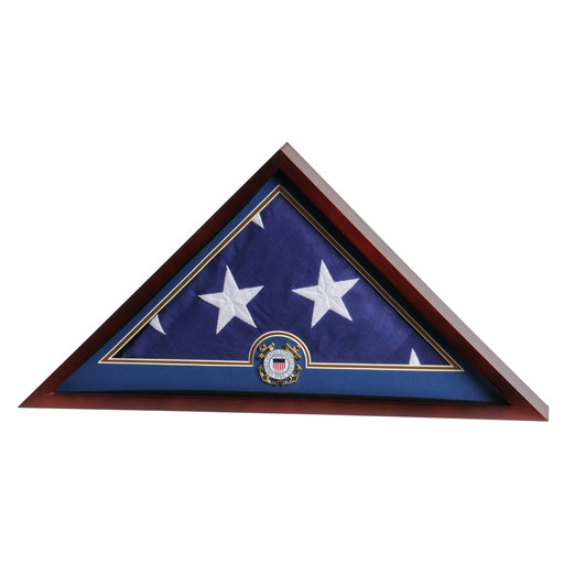Military Emblem Flag Display Case