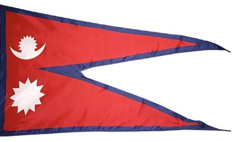 Nepal Indoor Flag for sale