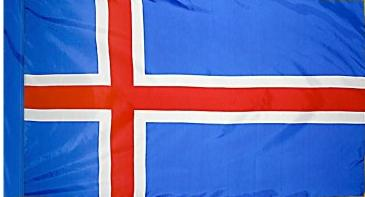 Iceland Indoor Flag for sale