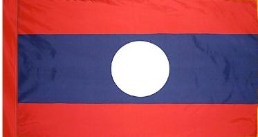 Laos Indoor Flag for sale