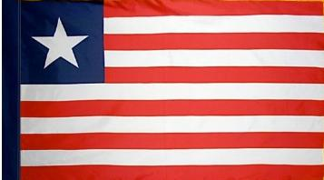 Liberia Indoor Flag for sale