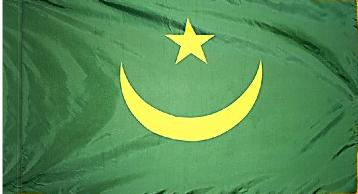 Mauritania Indoor Flag for sale