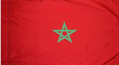 Morocco Indoor Flag for sale