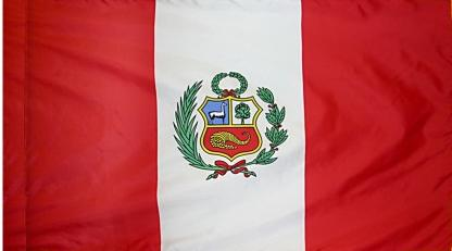 Peru Government Indoor Flag for sale