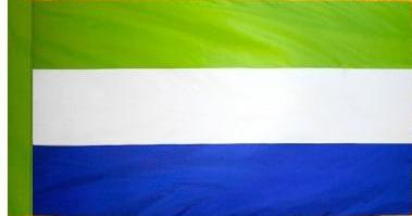 Sierra Leone Indoor Flag