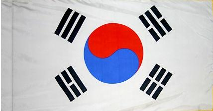 South Korea Indoor Flag for sale