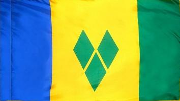St Vincent & Grenadin Indoor Flag for sale