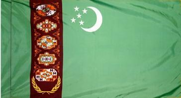 Turkmenistan Indoor Flag for sale