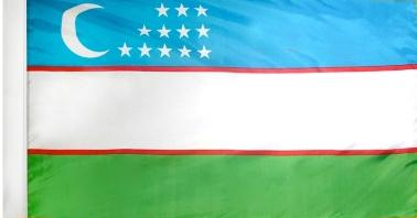 Uzbekistan Indoor Flag for sale