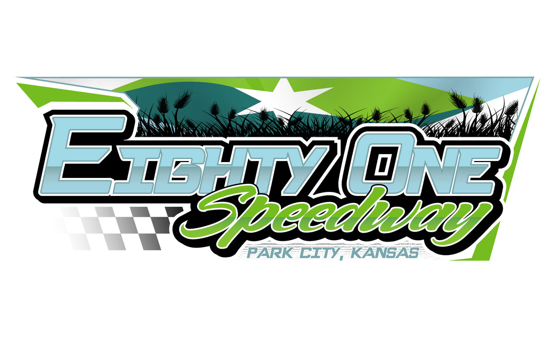Eight One Speedway Printed Custom Flag - 2.5'x4' - Nylon - Single Reverse - Heading & Grommets