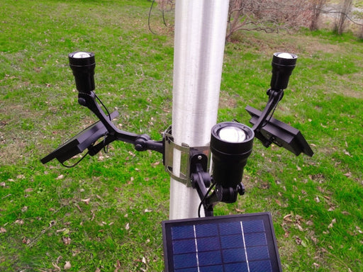 Extreme Commercial Solar Flagpole Light CREE