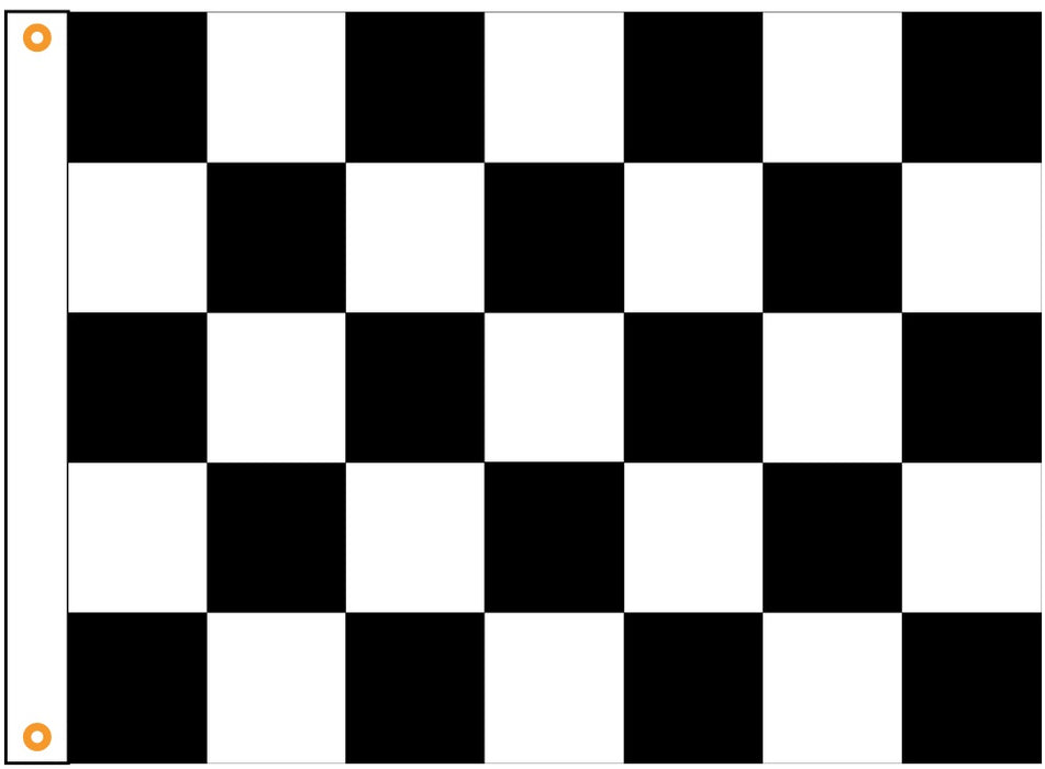 Printed Outdoor Checkered Flag