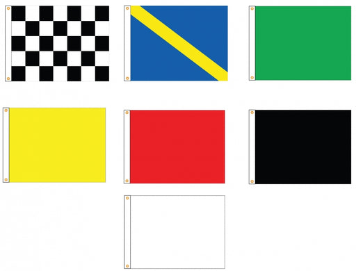 Outdoor Racing Flags Set of 7 Flagman of America