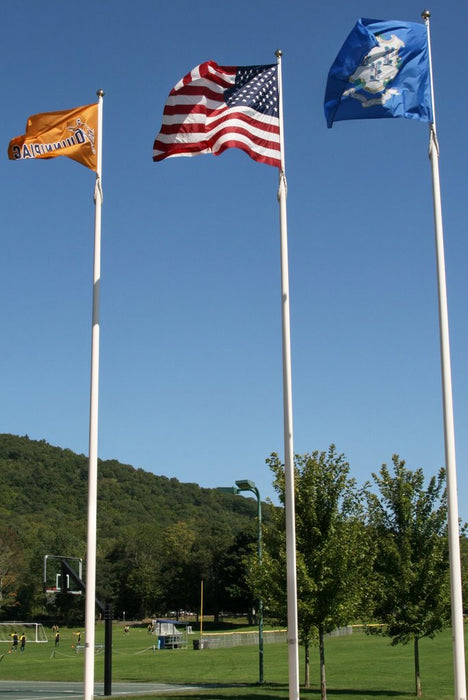 External Halyard 1 Piece Fiberglass Flagpole - *10 Year Warranty*