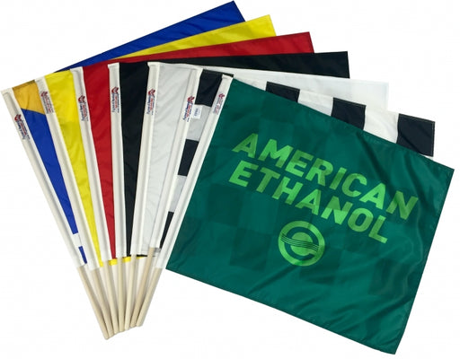 American Ethanol Race Flag Track Flags Set of 7 Checkered Flag Flagman of America