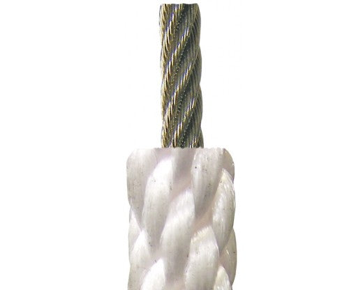 White Nylon Halyard - Wire Center - Sold by the Foot