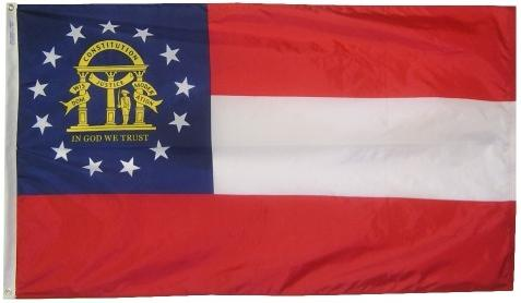 Georgia Flag For Sale - Commercial Grade Outdoor Flag - Made in USA